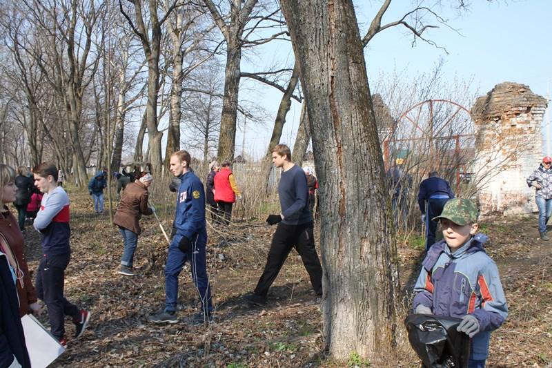 Старый парк в Троекурово. Субботник 20 апреля.