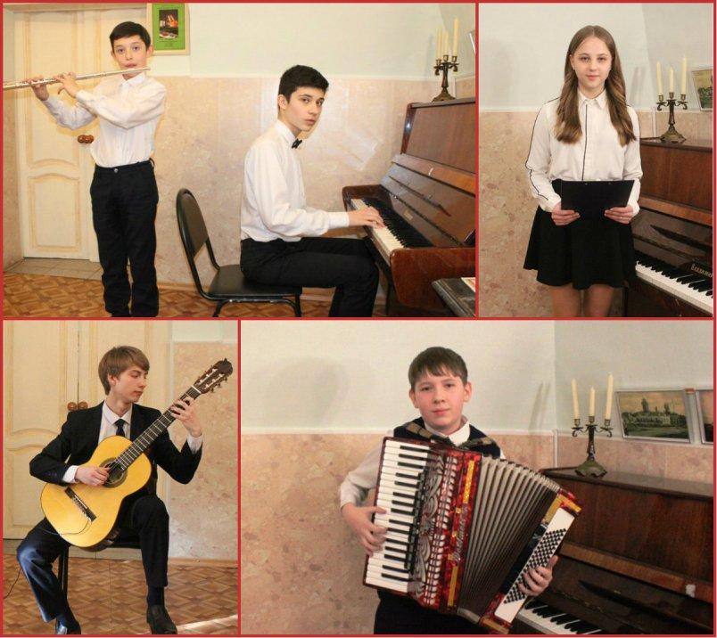 Концерт учеников детской музыкальной школы в Доме Игумновых